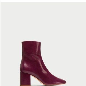 Zara heeled boot